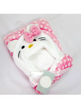 Buddyboo Baby Cat Bath Towels, baby pink