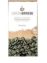 Greenbrrew Natural Green Coffee For Weight Loss - 60g (20 Sachets) , pack