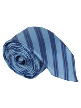Aqua english stripe Tie