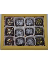 Grand Ellora Assorted Dark Chocolate Truffles - 12 Piece Box