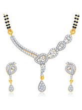 Sukkhi Bewitching Gold and Rhodium Plated CZ Mangalsutra Set For Women (14100MSCZR1400)