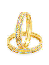 Sukkhi Bewitching Gold Plated AD Bangle For Women (32214BADV1400), 2.6