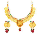 Sukkhi Blossomy Laxmi Temple Coin Gold Plated Necklace Set For Women (2834NGLDPAS1750)