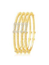 Sukkhi Lavish Gold Plated AD Bangle For Women (32262BADV1250), 2.6