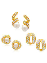 Sukkhi Divine Gold Plated Alloy Set Of 3 Stud Earr...