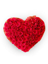 BAF Precious Heart 100 Roses Gift, Fixed Time Deli...