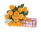 Primo Yellow Roses with Ferrero Rocher (PRE03)
