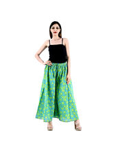 Halowishes Jaipuri Regular Fit Green Women's Palazzo