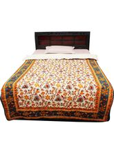 Halowishes Tradional Floral Gold Print Single Bed Razai - 202