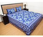 Halowishes Sanganeri Printed Cotton Double Bed Sheet
