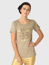 T-Shirt, xxs, beige