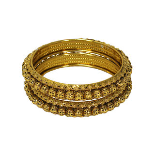 Stunning Gold Tone Bangles In Pack Of 2 For Women,...