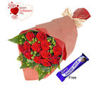 Flora Online Valentine - 15 Red Roses Bunch