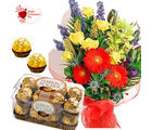 Flora Online Valentine Gift - Mix Flower Rocher Treat