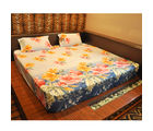 Czar 3D Double Bed Sheet With 2 Pillow Covers, skyblue