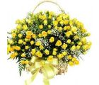 India Gifts Hub Yellow Roses Basket 100 Flowers (IGHFLOW053)