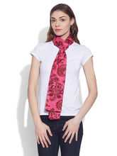 Very Me Cotton Printed Voile Scarf (W-VPS-2105), magenta