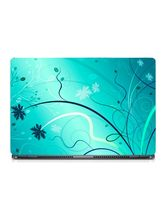 Skin Yard Ice Flower Abstract Laptop Skin With Laptop Sleeve, 15.6 inch